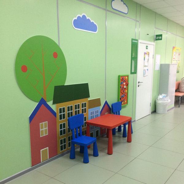 Игровые зоны для городской детской поликлиники №1
